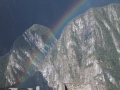 Rainbow over Huayna Picchu